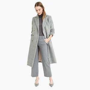 NWT. J. Crew Collection long brushed wool topcoat